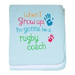 Kids Future Rugby Coach baby blanket