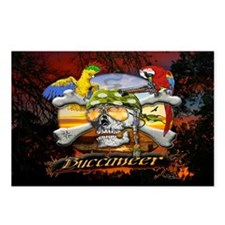 Buccaneer Parrot Pirates Postcards (Package of 8)