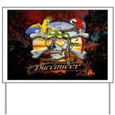 Buccaneer Parrot Pirates Yard Sign