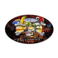 Buccaneer Parrot Pirates 22x14 Oval Wall Peel