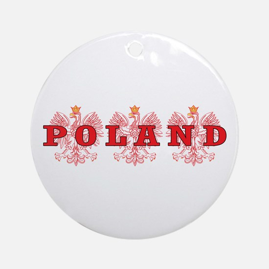Poland Red Eagles Ornament (Round)