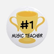 Music Teacher Award Gift Ornament (Round)