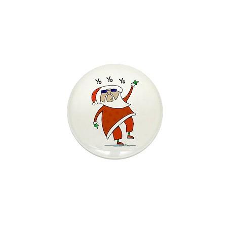 Hip Santa Mini Button