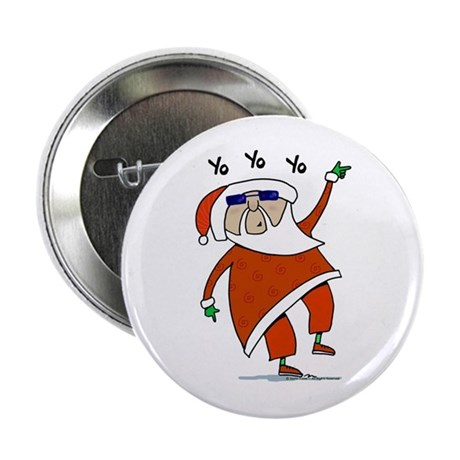 "Hip Santa 2.25"" Button"