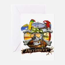 Pirate Parrots Greeting Cards (Pk of 20)