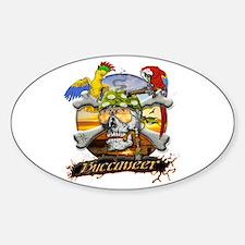 Pirate Parrots Sticker (Oval)