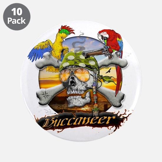 "Pirate Parrots 3.5"" Button (10 pack)"