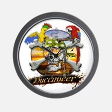 Buccaneer Parrots Wall Clock