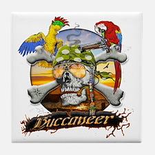 Pirate Parrots Tile Coaster