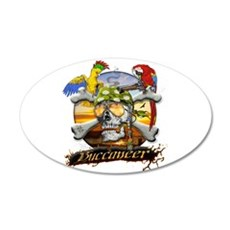 Pirate Parrots Wall Decal