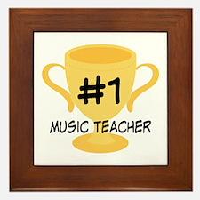 Music Teacher Award Gift Framed Tile