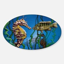 Seahorse Party Sticker (Oval)