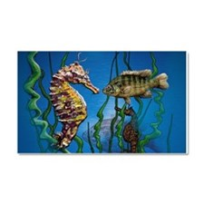 Seahorses and Fish Car Magnet 20 x 12