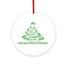 Irish you a Merry Christmas Ornament (Round)