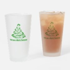 Irish you a Merry Christmas Drinking Glass