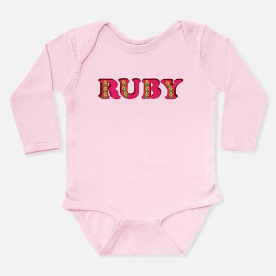 Ruby Long Sleeve Infant Bodysuit