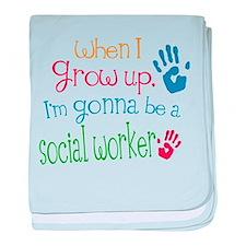 Kids Future Social Worker baby blanket