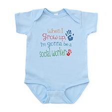 Kids Future Social Worker Onesie
