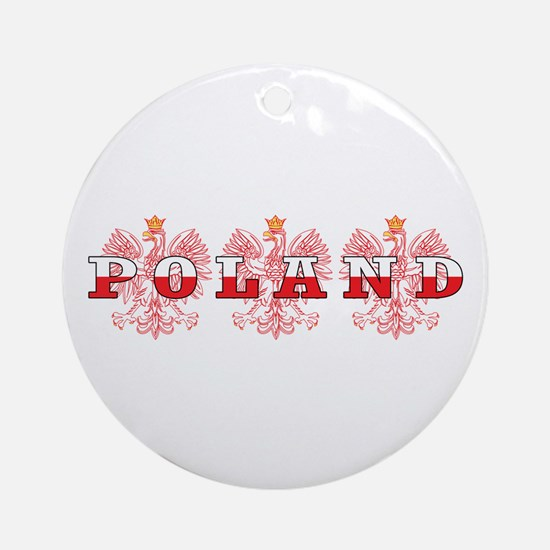 Poland Flag Red Eagles Ornament (Round)