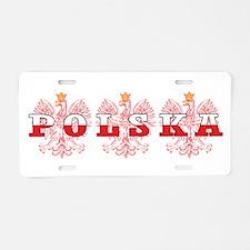 Polska Flag Red Eagles Aluminum License Plate
