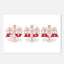 Polska Flag Red Eagles Postcards (Package of 8)