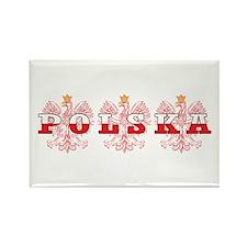 Polska Flag Red Eagles Rectangle Magnet