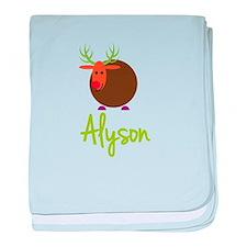 Alyson the Reindeer baby blanket