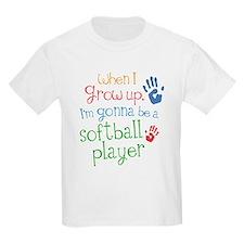 Kids Future Softball Player T-Shirt