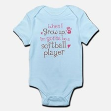 Kids Future Softball Player Infant Bodysuit