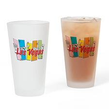 Las Vegas Retro Drinking Glass