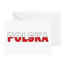 Polska Flag Greeting Card