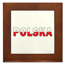 Polska Flag Framed Tile