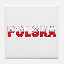 Polska Flag Tile Coaster