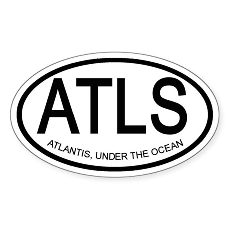 Atlantis Sticker (Oval)