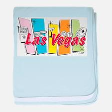 Las Vegas Retro baby blanket