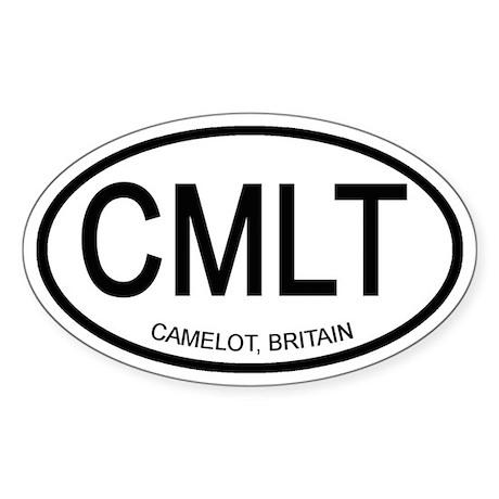 Camelot Vacation Sticker (Oval)