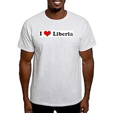 I Love Liberia Ash Grey T-Shirt