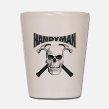 Handyman Skull Shot Glass