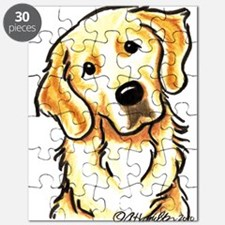 Golden Retriever Portrait Puzzle