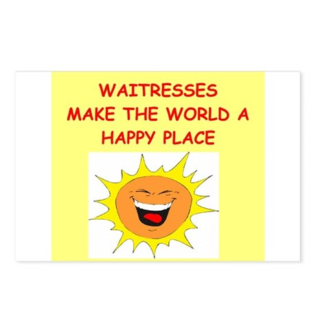 waitresses Postcards (Package of 8)