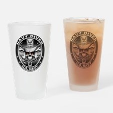 USN Navy Diver ND Skull Don't Drinking Glass