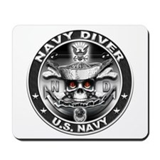 USN Navy Diver ND Skull Don't Mousepad