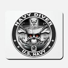 USN Navy Diver ND Skull Don't Mousepad
