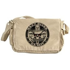 USN Navy Diver ND Skull Don't Messenger Bag