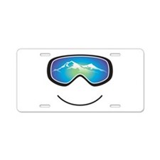 Happy Skier/Boarder Aluminum License Plate