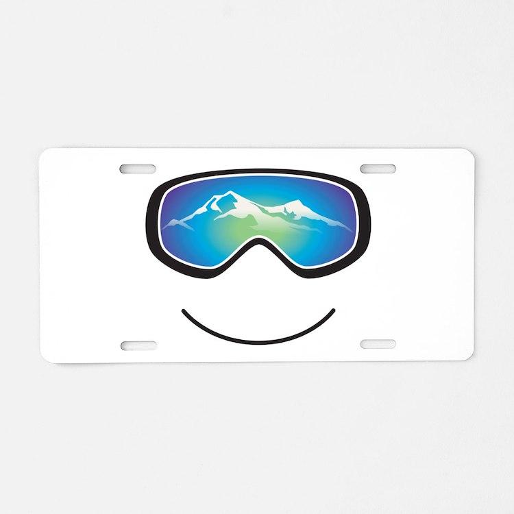 Happy Skier/Boarder Aluminum License Plate