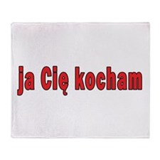 ja cie kocham - I Love You Throw Blanket