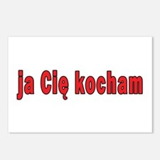 ja cie kocham - I Love You Postcards (Package of 8