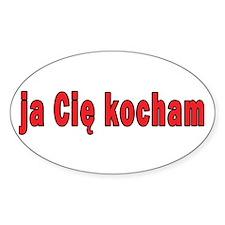 ja cie kocham - I Love You Decal