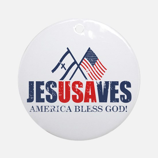 Jesus Saves Ornament (Round)